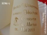 Eleg.-Dinner-Servietten champagner, bedruckt mit Goldprägung und Hochzeits-Motiv: H38+ (Hochzeitstanz)